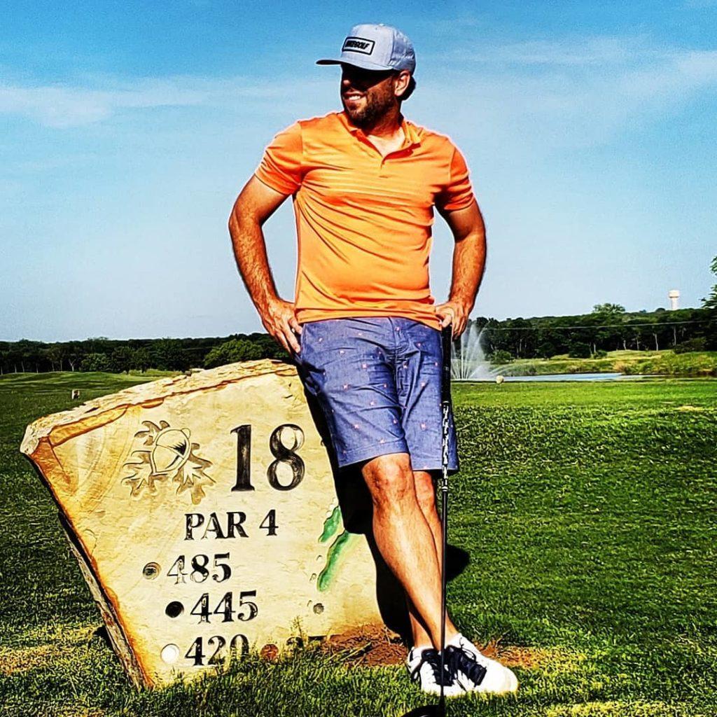 Arron Posing at Southern Oaks Golf & Tennis